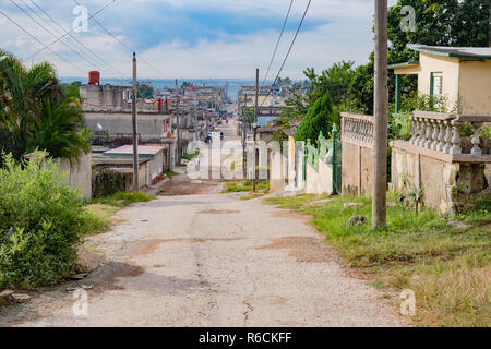 Street scene from Matanzas Cuba, a small city on the north coast. - Stock Image