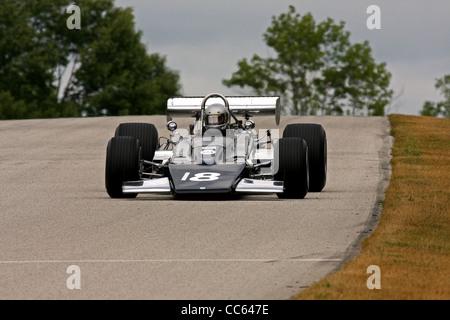 Vintage Sports Car Racing Road America, Wisconsin - Stock Image
