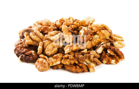 Walnuts isolated on the white background - Stock Image