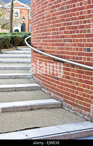 Modern stone steps in a UK town - Stock Image