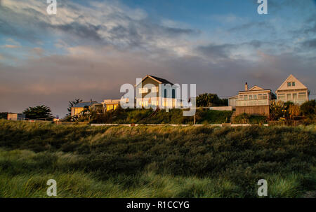 Beach Houses at Anderby creek,Lincolnshire - Stock Image