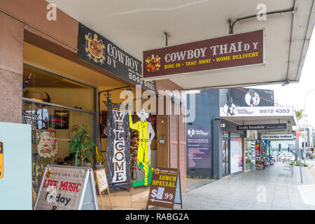 Cowboy Thai Restaurant. Sydney suburb Dee Why - Stock Image