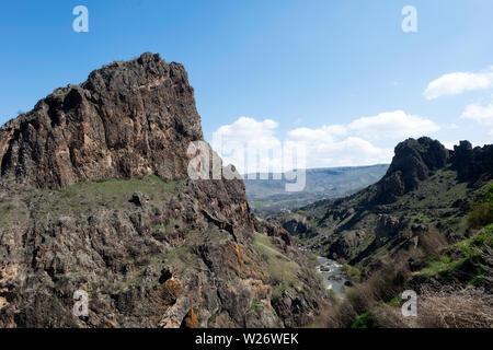 Mountain Landscape in Northern Armenia and Southern Georgia, taken in April 2019rn' taken in hdr - Stock Image