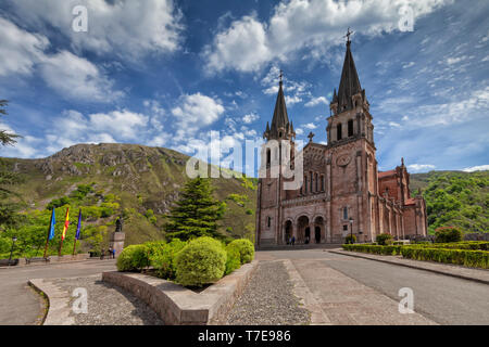 Basilica of Covadonga in Asturias, Spain. Image taken on May 6, 2019. - Stock Image