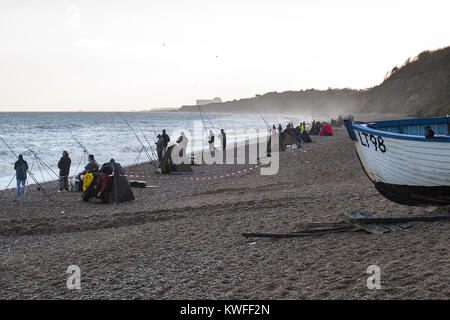 Sea Fishing Match at Dunwich, Suffolk - Stock Image