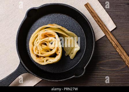 Food Chinese style egg pancake - Stock Image