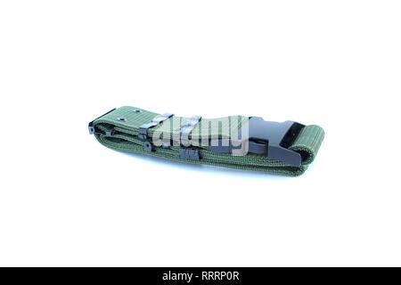 safety belt on isolated white - Stock Image