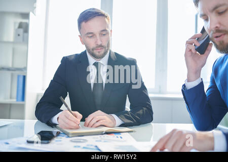 Concentrating on work organization - Stock Image