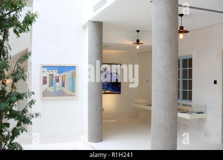 House of Art, located on the Bahrain Pearling Trail and part of the Sheikh Ibrahim Centre for Culture and Research, Muharraq, Kingdom of Bahrain - Stock Image