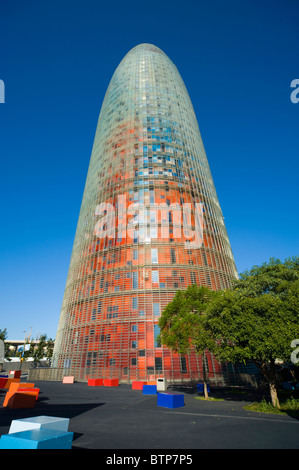 Torre Agbar, Barcelona, Catalonia, Spain - Stock Image