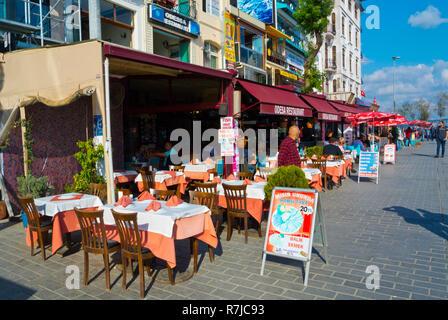 Karakoy meydani, Karakoy pier promenade and square, Karakoy, Istanbul, Turkey, Eurasia - Stock Image