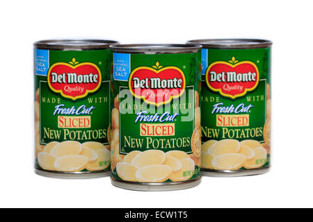 Del Monte Foods Canned Sliced New Potatoes - Stock Image