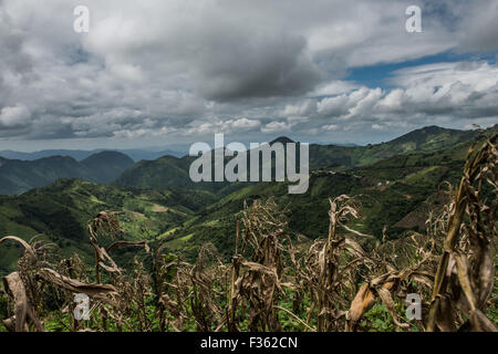 Mountain scenery outside Kalaw, in Shan State, Myanmar - Stock Image
