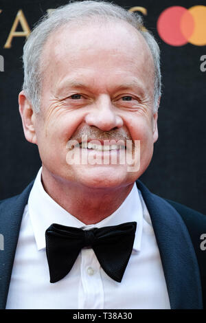 London, UK. 7th Apr 2019. Kelsey Grammer poses on the red carpet at the Olivier Awards on Sunday 7 April 2019 at Royal Albert Hall, London. Picture by Credit: Julie Edwards/Alamy Live News - Stock Image