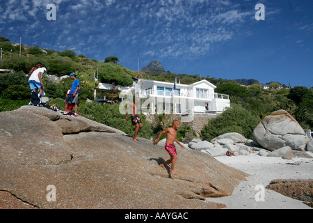south africa cape town clifton beach  - Stock Image