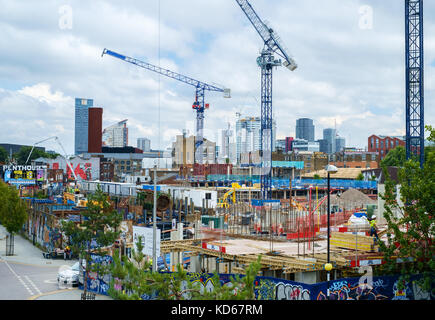 Housing construction in Hackney Wick near the Olympic Park, East London, UK - Stock Image