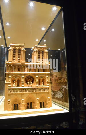 Paris, France - Architectural Model Monument Religious Architecture, Catholic Church, Notre Dame Cathedral - Stock Image