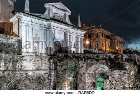 San Giacomo Gate, Bergamo, Italy - Stock Image