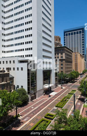 Main Street downtown Houston Texas - Stock Image
