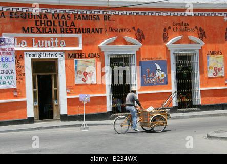 La Lunita, La Esquina Mas Famosa de Cholula, Mexican Restaurant, Cholula, Mexico - Stock Image