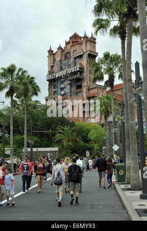 Hollywood Tower Hotel ride at Disney's Hollywood Studios, Orlando, Florida, USA - Stock Image