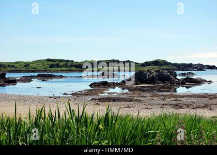beach in Port Ellen - Stock Image