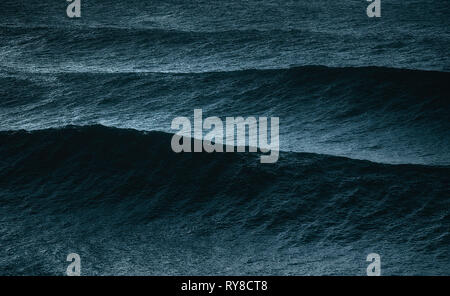 big waves on the ocean - Stock Image