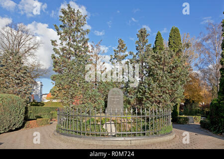 Grave memorial to 226 Danish soldiers fallen in Second Schleswig War 1864 in south Jutland. The Garnisons Cemetery, Garnisons Kirkegård,  Copenhagen - Stock Image