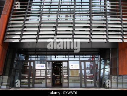Entrance to the European Solidarity Centre in Gdansk - Stock Image