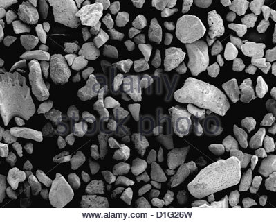 SEM - GRAINS OF SAND - Stock Image