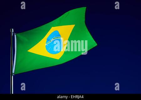 Brazilian Flag - Stock Image