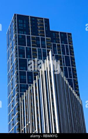 Modern Melbourne Docklands skyline in Melbourne Docklands,Victoria Australia. - Stock Image