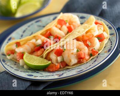 Shrimp Tacos - Stock Image