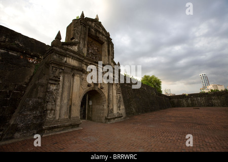 The main gate of Fort Santiago in the historic Intramuros section of Manila, Philippines. - Stock Image