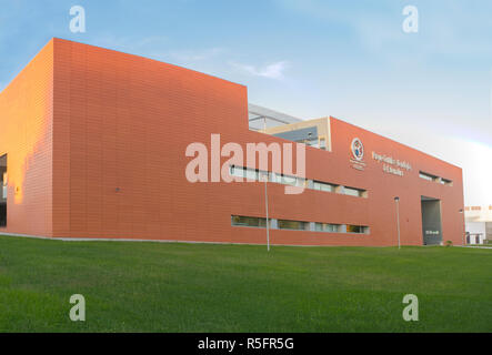 Badajoz, Spain - 1st Oct 2018: Science and Technology Park Extremadura Building, Badajoz, Spain - Stock Image