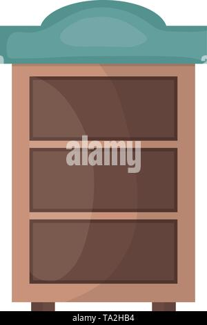 wooden shelf forniture icon vector illustration design - Stock Image