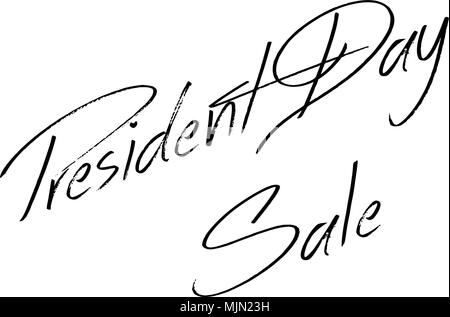 President Day Sale text sign illustration on white background - Stock Image