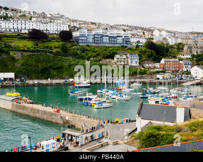 Pleasure and fishing boats in the harbour at Ilfracombe, North Devon, UK - Stock Image