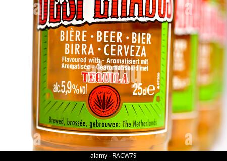 Desparados bottle of beer with tequila - Stock Image