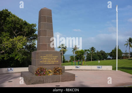 The Great Air Race Memorial in Fannie Bay, marks the point where the first aerial flight from London England to Darwin Australia landed. - Stock Image