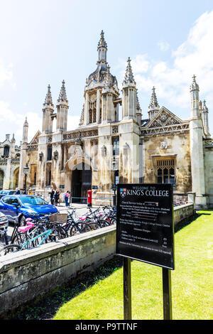 Kings College Cambridge, King's College, Cambridge, King's College Cambridge, Cambridge University, King's, College, Cambridge UK, uni, university, uk - Stock Image