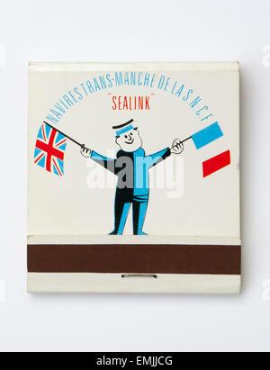 Vintage Matchbook advertising Sealink Ferries - Stock Image