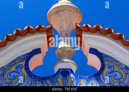 Detail from facade in Cascais, Portugal - Stock Image