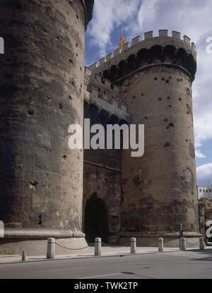 TORRES DE QUART - SIGLO XV. Author: COMPTE PERE / BALDOMAR FRANCESC. Location: Torres de Quart. SPAIN. - Stock Image