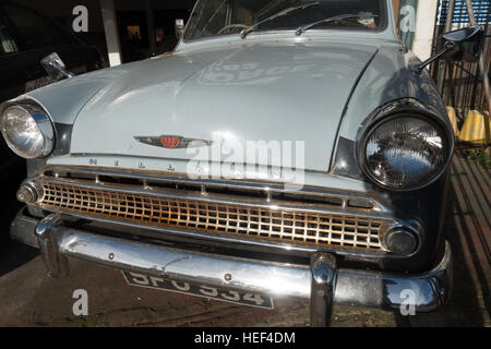 The front grille of an old Hillman Minx car. - Stock Image