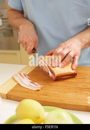 Lamb roulade + steps - Stock Image
