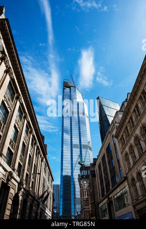 City of London, England UK May 2019. 22 Bishopsgate formerly known as The Pinnacle 22 Bishopsgate is a commercial skyscraper under construction in Lon - Stock Image