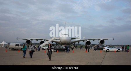 Airbus A380 at the MAKS-2013 - Stock Image