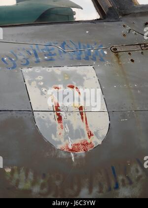 HRZ MiG-21 BIS badge insignia - Stock Image