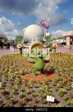Donald Duck bush Disney Epcot Florida - Stock Image